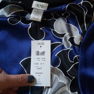 Cache Dresses - Cache dress NWT royal blue with black and gray. Be